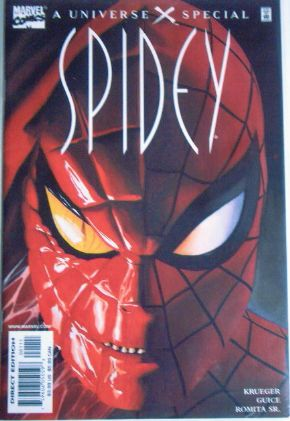 Universe X Spidey Banned Recalled Slander Variant RARE Marvel comic